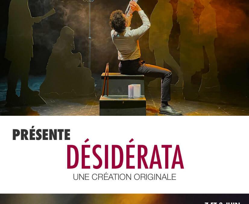 Désidérata – Représentation Open Class