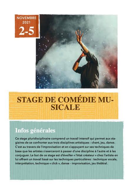 Nouveau stage ouvert : Comédie Musicale